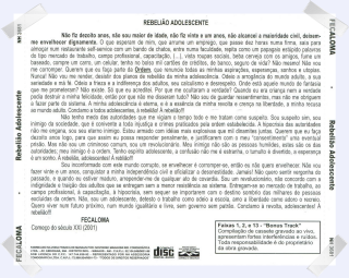 Verso do CD Rebelião Adolescente
